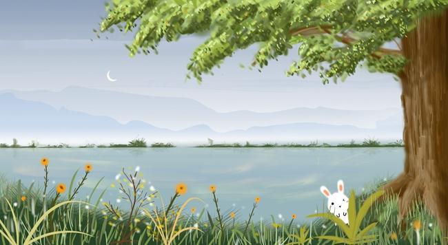 幼儿马风景油画